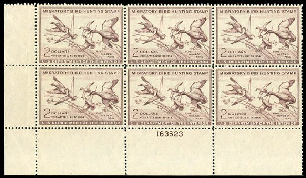 Costs of US Stamp Scott Catalog # RW20: US$2.00 1953 Federal Duck Hunting. Matthew Bennett International, Dec 2008, Sale 330, Lot 2068