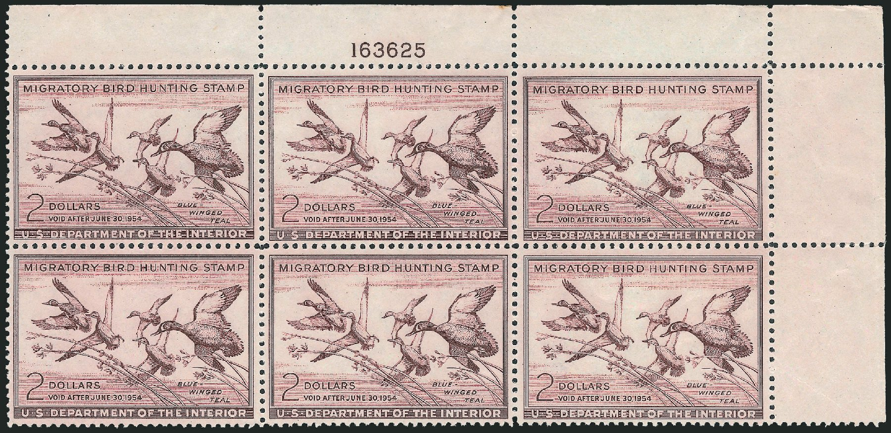 Prices of US Stamps Scott #RW20: 1953 US$2.00 Federal Duck Hunting. Robert Siegel Auction Galleries, Mar 2011, Sale 1007, Lot 3184