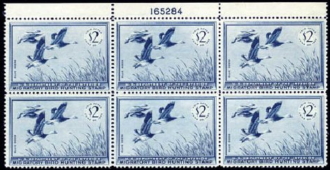 Value of US Stamps Scott # RW22 - US$2.00 1955 Federal Duck Hunting. Harmer-Schau Auction Galleries, Aug 2011, Sale 90, Lot 2059