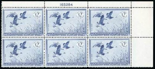Prices of US Stamp Scott Cat. RW22: US$2.00 1955 Federal Duck Hunting. Spink Shreves Galleries, Jul 2015, Sale 151, Lot 439
