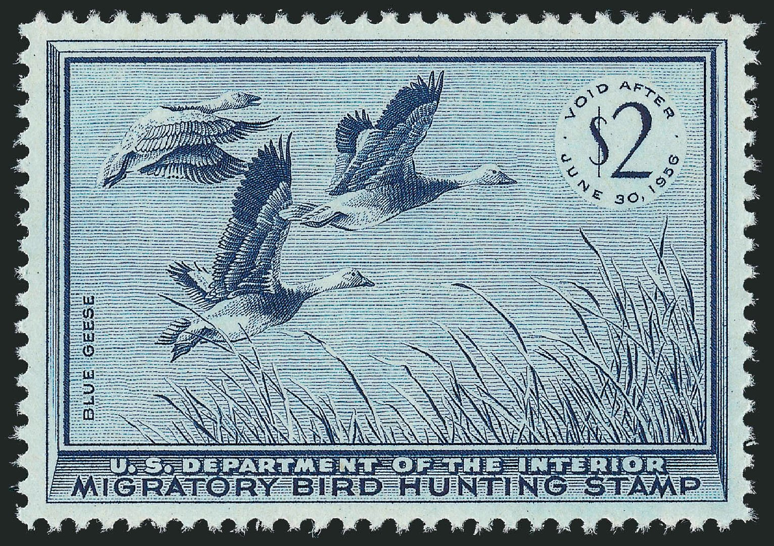Cost of US Stamp Scott Catalogue RW22: US$2.00 1955 Federal Duck Hunting. Robert Siegel Auction Galleries, Nov 2013, Sale 1061, Lot 4524
