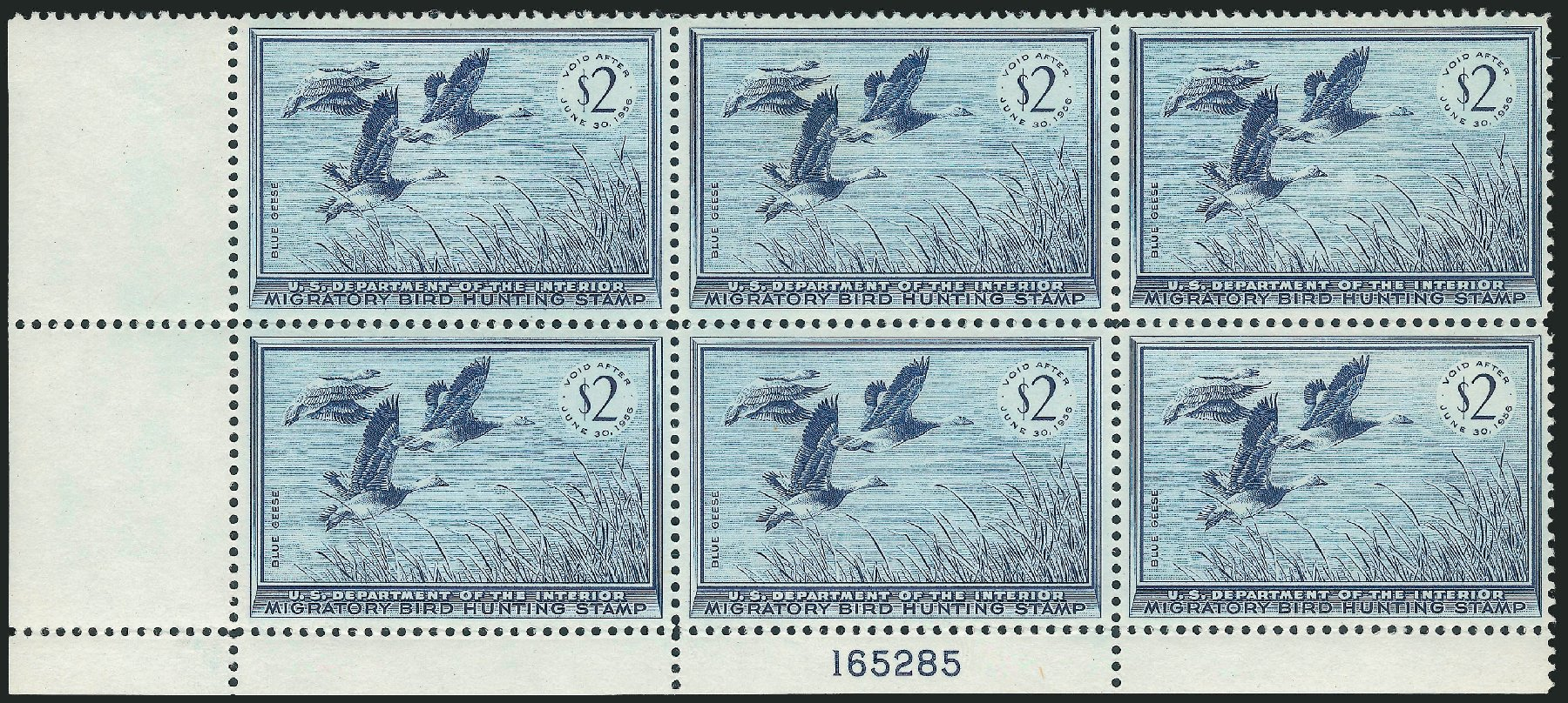Costs of US Stamps Scott Cat. RW22 - US$2.00 1955 Federal Duck Hunting. Robert Siegel Auction Galleries, Mar 2011, Sale 1007, Lot 3185