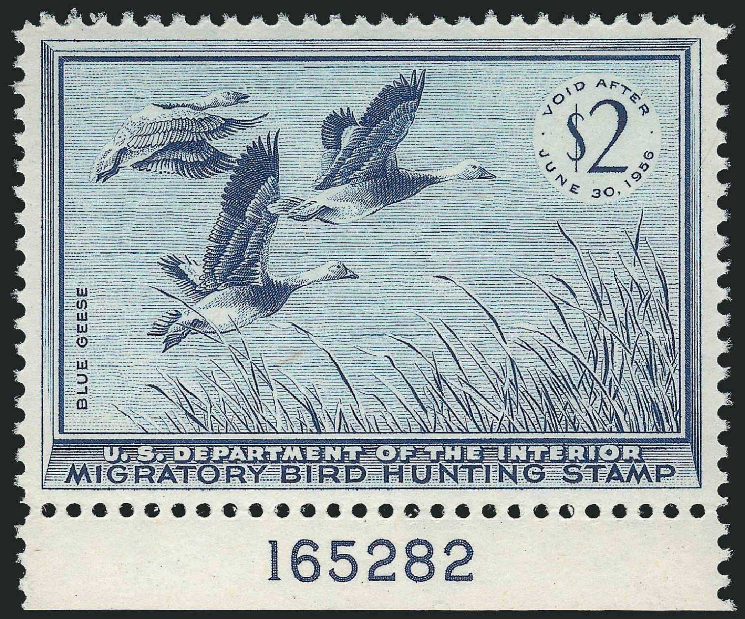 Value of US Stamps Scott Catalog # RW22: 1955 US$2.00 Federal Duck Hunting. Robert Siegel Auction Galleries, Mar 2014, Sale 1067, Lot 755