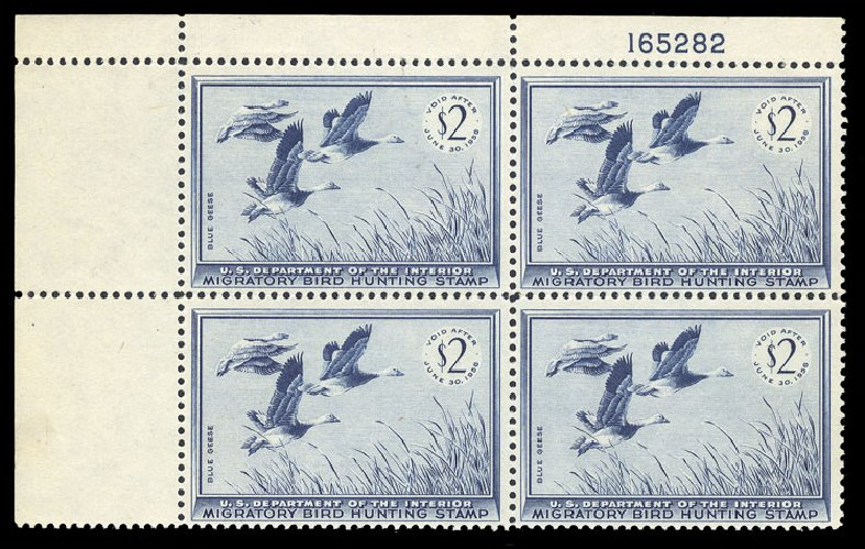 US Stamp Prices Scott #RW22: 1955 US$2.00 Federal Duck Hunting. Cherrystone Auctions, Jan 2013, Sale 201301, Lot 73