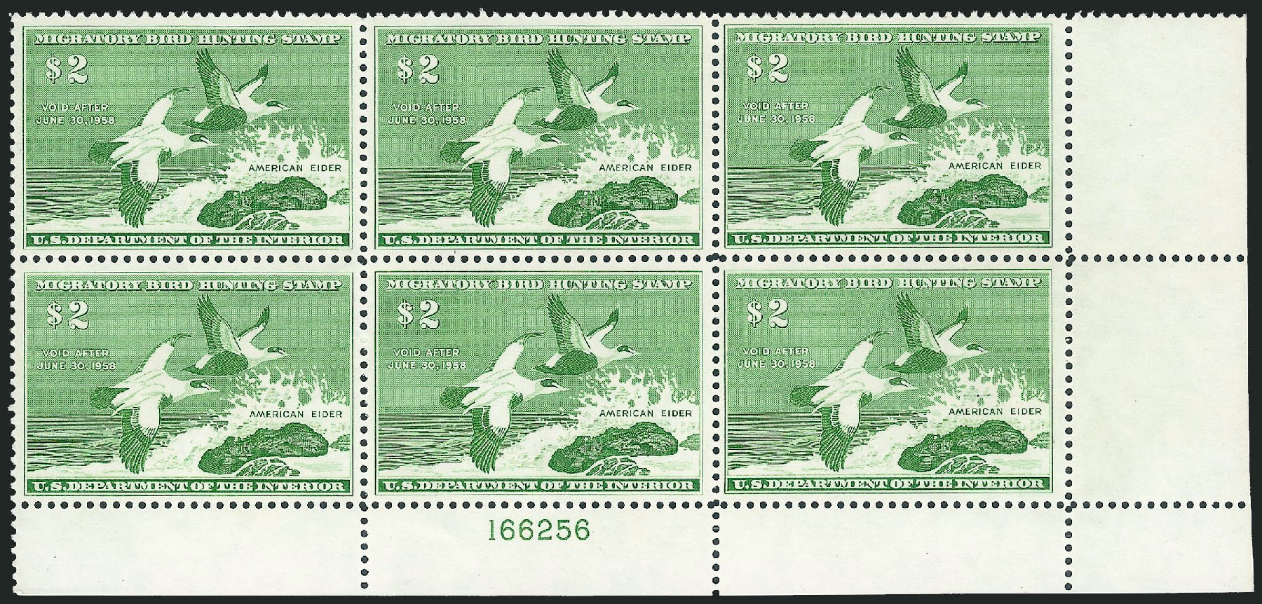 Price of US Stamps Scott Catalog #RW24: US$2.00 1957 Federal Duck Hunting. Robert Siegel Auction Galleries, Oct 2011, Sale 1014, Lot 2508