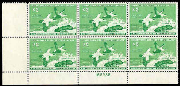 Values of US Stamp Scott Cat. #RW24 - 1957 US$2.00 Federal Duck Hunting. Matthew Bennett International, Dec 2008, Sale 330, Lot 2079