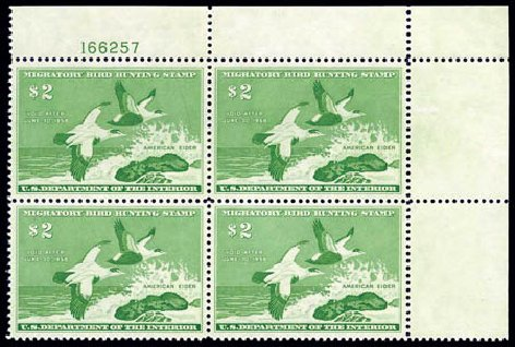Cost of US Stamps Scott Cat. #RW24 - US$2.00 1957 Federal Duck Hunting. Harmer-Schau Auction Galleries, Aug 2011, Sale 90, Lot 2061