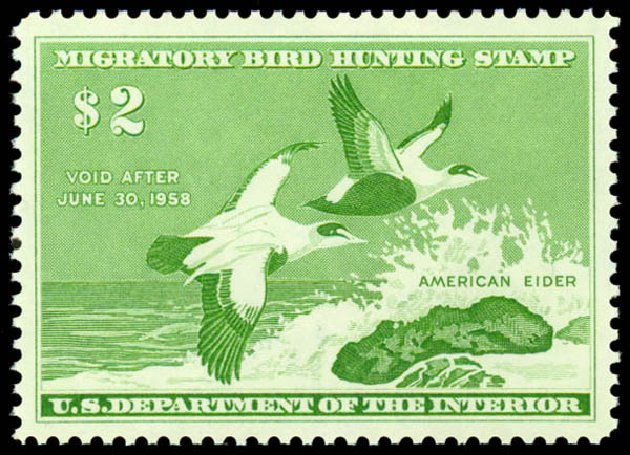Price of US Stamp Scott #RW24: 1957 US$2.00 Federal Duck Hunting. Daniel Kelleher Auctions, May 2014, Sale 653, Lot 2361