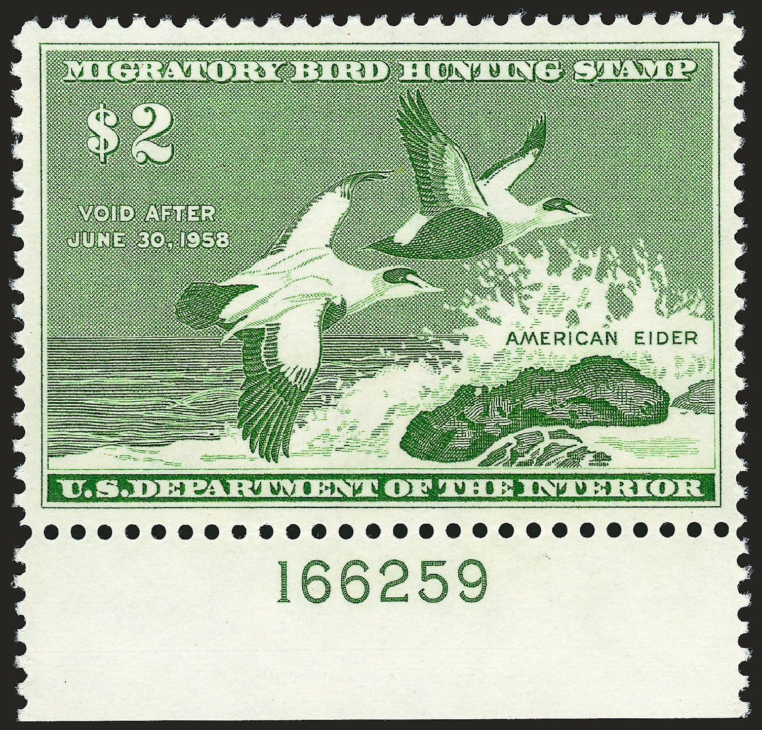 Cost of US Stamps Scott Catalog # RW24: 1957 US$2.00 Federal Duck Hunting. Robert Siegel Auction Galleries, Sep 2008, Sale 962, Lot 3081
