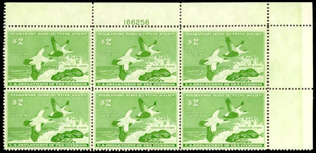 US Stamps Value Scott Cat. #RW24: US$2.00 1957 Federal Duck Hunting. Daniel Kelleher Auctions, May 2014, Sale 653, Lot 2512