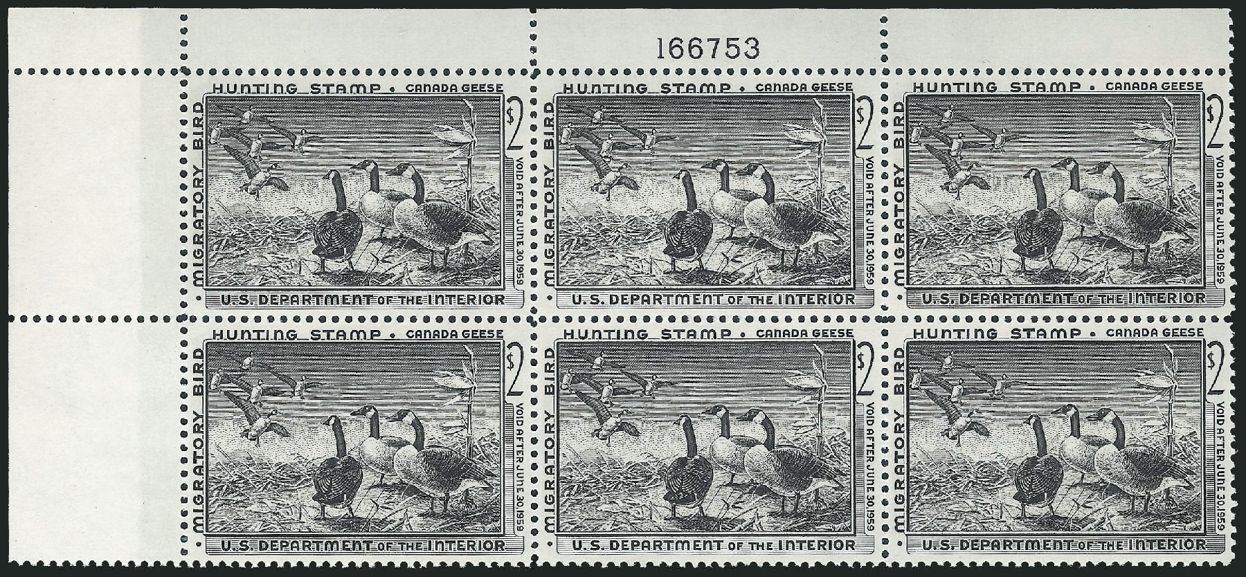 Price of US Stamp Scott RW25: US$2.00 1958 Federal Duck Hunting. Robert Siegel Auction Galleries, Oct 2011, Sale 1014, Lot 2509