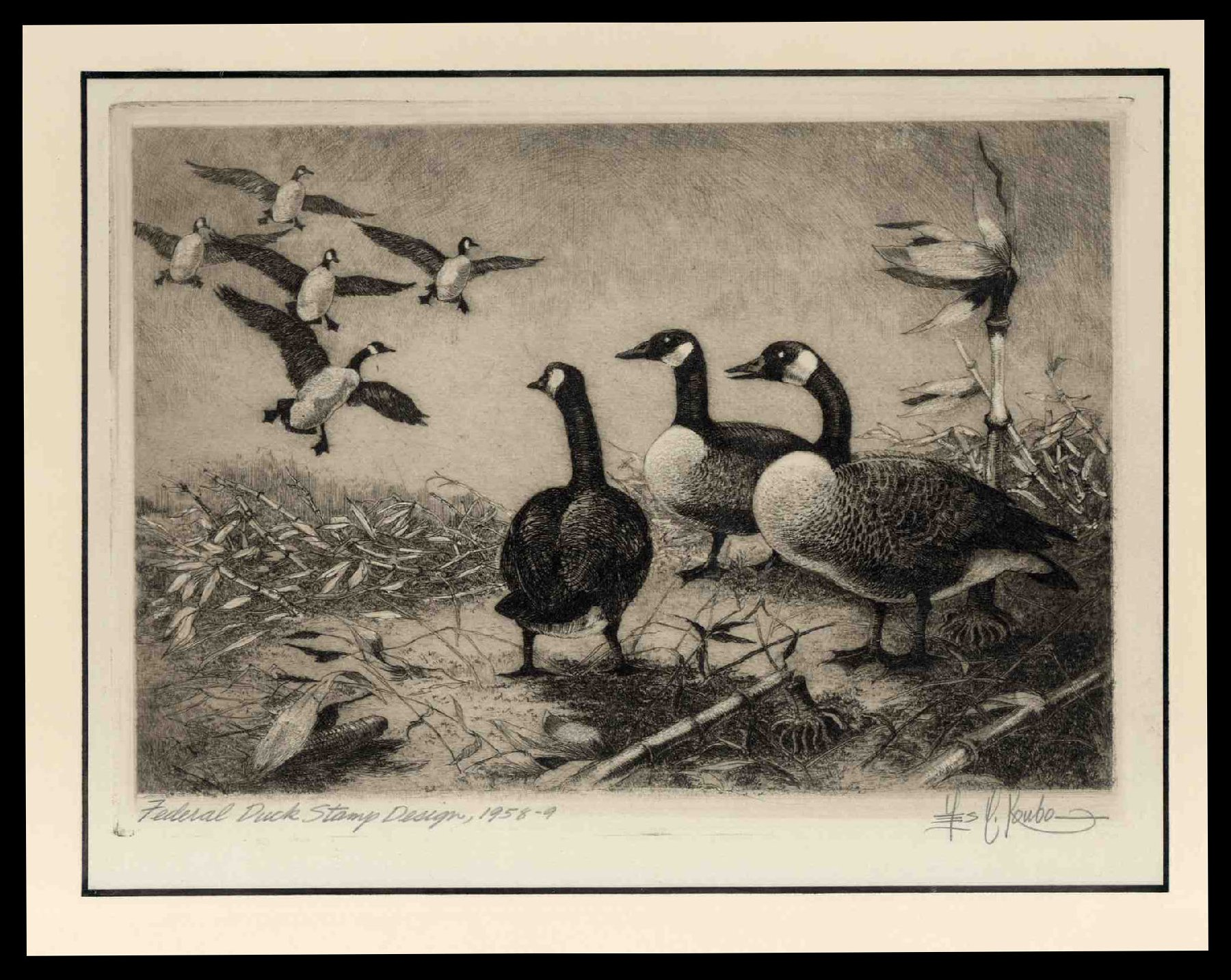 Costs of US Stamp Scott Catalog # RW25: US$2.00 1958 Federal Duck Hunting. Cherrystone Auctions, Jun 2012, Sale 201206, Lot 195
