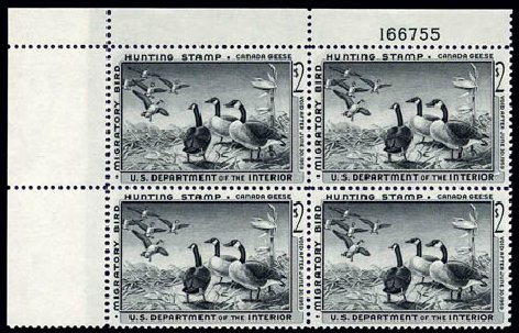 US Stamp Prices Scott Cat. RW25 - 1958 US$2.00 Federal Duck Hunting. Harmer-Schau Auction Galleries, Aug 2011, Sale 90, Lot 2062