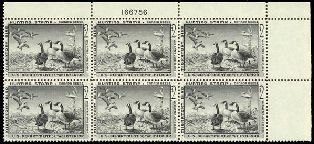 Costs of US Stamp Scott Cat. #RW25: 1958 US$2.00 Federal Duck Hunting. Daniel Kelleher Auctions, May 2014, Sale 653, Lot 2513