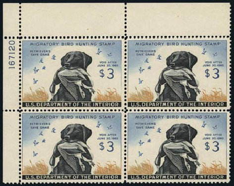 Value of US Stamps Scott # RW26 - 1959 US$3.00 Federal Duck Hunting. Harmer-Schau Auction Galleries, Aug 2012, Sale 94, Lot 2010