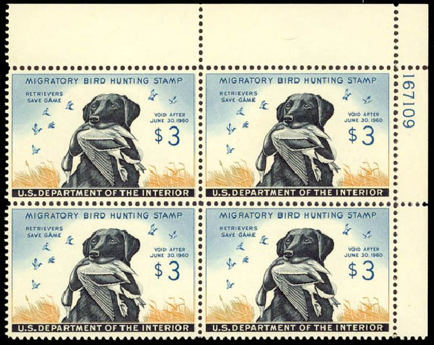 US Stamp Price Scott Cat. #RW26: 1959 US$3.00 Federal Duck Hunting. Daniel Kelleher Auctions, May 2014, Sale 653, Lot 2514