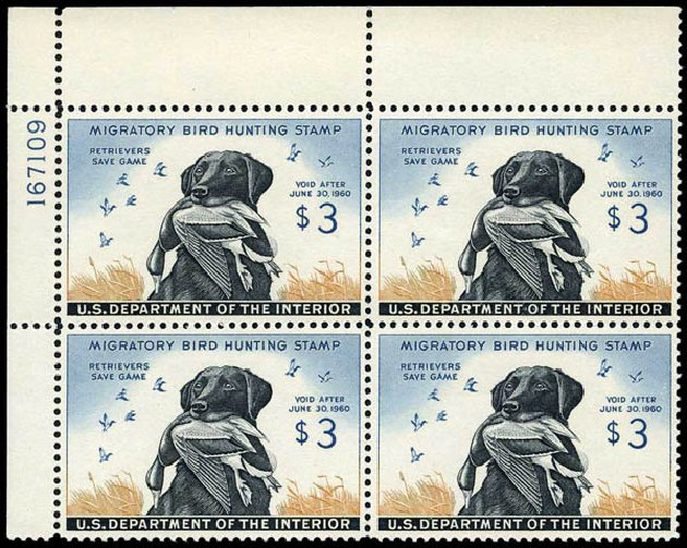 US Stamp Values Scott # RW26 - 1959 US$3.00 Federal Duck Hunting. Harmer-Schau Auction Galleries, Jan 2014, Sale 100, Lot 742