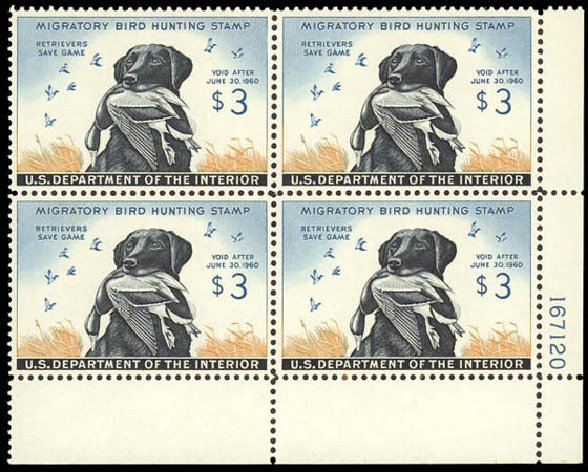 Cost of US Stamps Scott Catalog # RW26: 1959 US$3.00 Federal Duck Hunting. Daniel Kelleher Auctions, Oct 2011, Sale 626, Lot 693