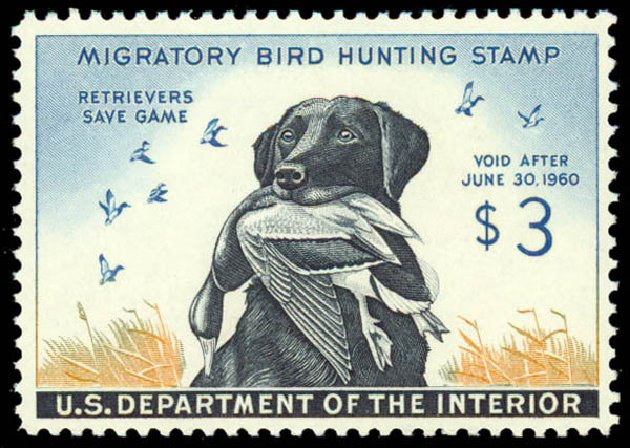Price of US Stamps Scott Cat. # RW26 - 1959 US$3.00 Federal Duck Hunting. Daniel Kelleher Auctions, May 2014, Sale 653, Lot 2363