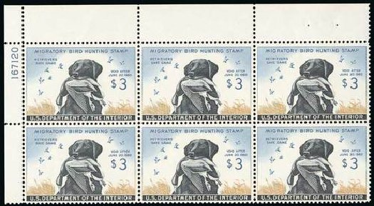 US Stamp Value Scott Catalogue #RW26: US$3.00 1959 Federal Duck Hunting. Spink Shreves Galleries, Jul 2015, Sale 151, Lot 443