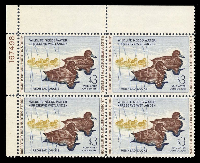 Prices of US Stamp Scott Cat. # RW27 - US$3.00 1960 Federal Duck Hunting. Cherrystone Auctions, Mar 2015, Sale 201503, Lot 98