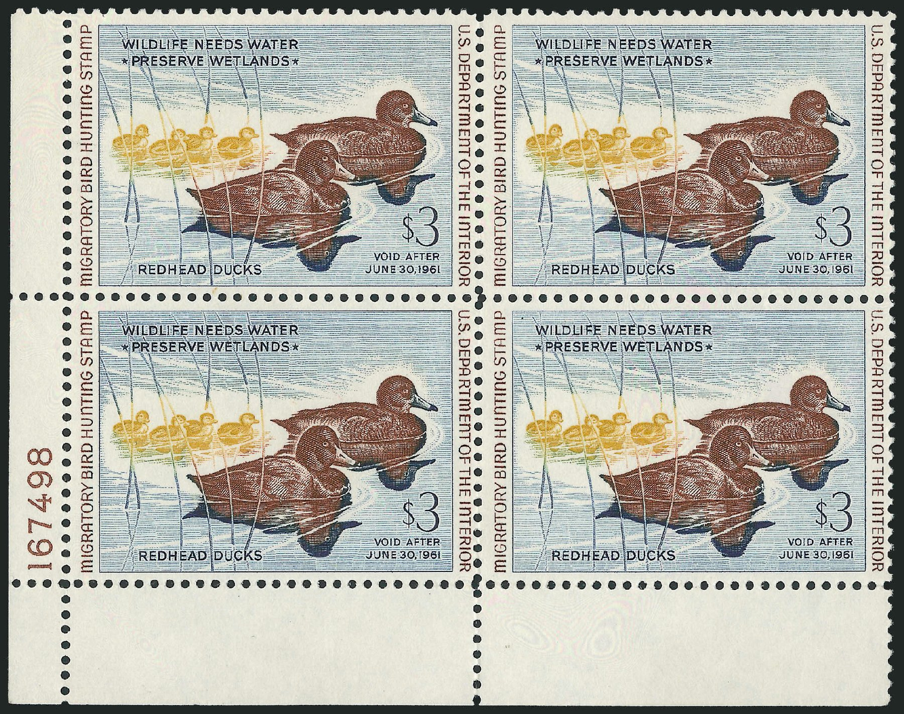 Prices of US Stamps Scott #RW27: 1960 US$3.00 Federal Duck Hunting. Robert Siegel Auction Galleries, Oct 2010, Sale 997, Lot 6646