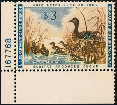 Price of US Stamps Scott Cat. RW28: US$3.00 1961 Federal Duck Hunting. Harmer-Schau Auction Galleries, Aug 2012, Sale 94, Lot 2011