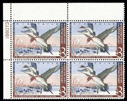 Costs of US Stamp Scott Catalog # RW29: US$3.00 1962 Federal Duck Hunting. Spink Shreves Galleries, May 2014, Sale 148, Lot 409
