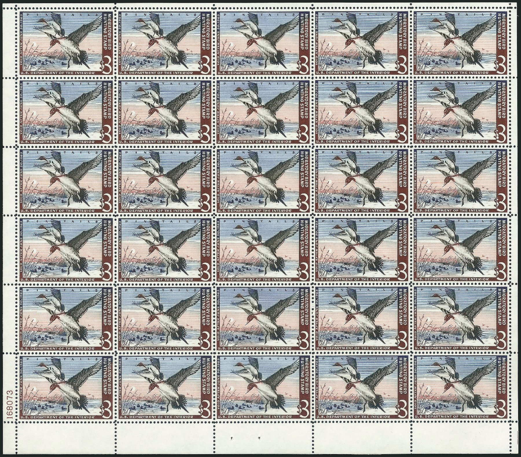 Costs of US Stamps Scott # RW29 - US$3.00 1962 Federal Duck Hunting. Robert Siegel Auction Galleries, Feb 2015, Sale 1092, Lot 1544