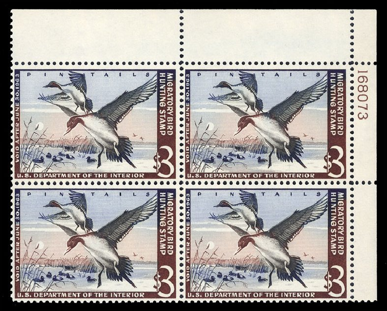 Price of US Stamps Scott Catalogue RW29 - 1962 US$3.00 Federal Duck Hunting. Cherrystone Auctions, Jan 2013, Sale 201301, Lot 75