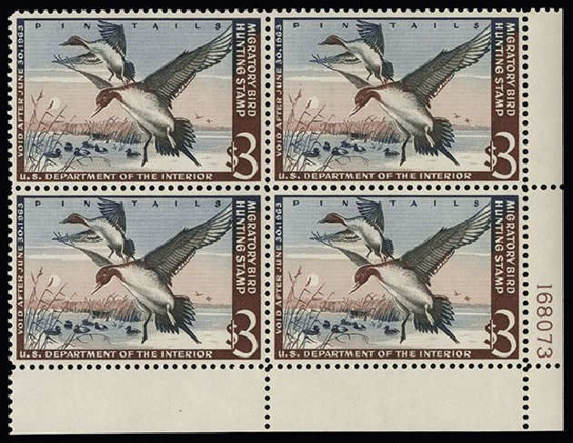 US Stamps Values Scott #RW29 - US$3.00 1962 Federal Duck Hunting. Spink Shreves Galleries, Aug 2013, Sale 144, Lot 445