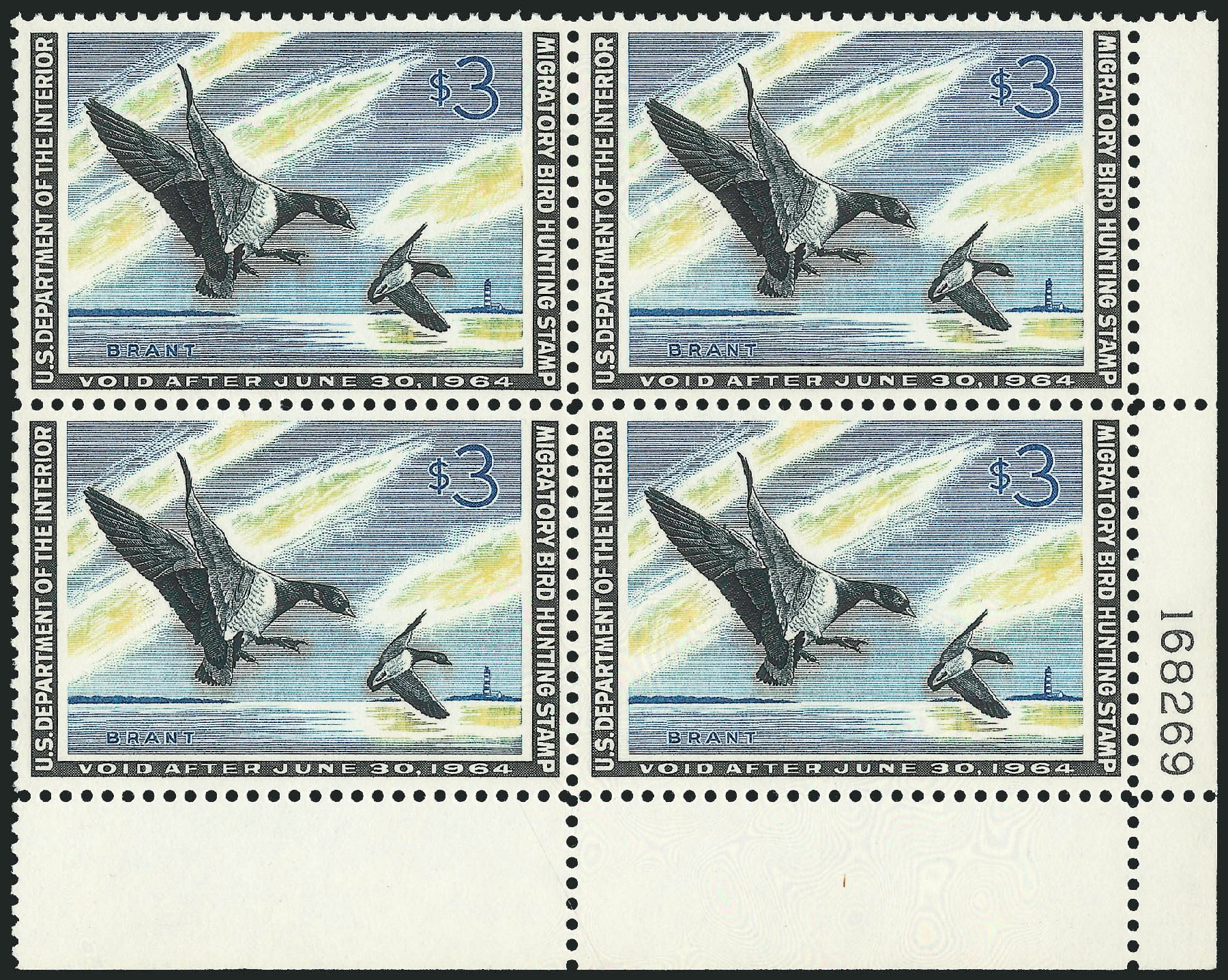 Price of US Stamps Scott Catalogue # RW30: US$3.00 1963 Federal Duck Hunting. Robert Siegel Auction Galleries, Feb 2015, Sale 1092, Lot 1537