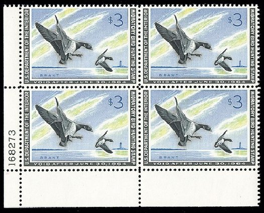 Value of US Stamp Scott Cat. RW30: 1963 US$3.00 Federal Duck Hunting. Spink Shreves Galleries, May 2014, Sale 148, Lot 411