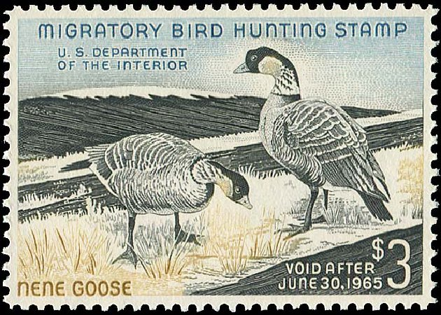 US Stamp Prices Scott RW31 - 1964 US$3.00 Federal Duck Hunting. Regency-Superior, Aug 2015, Sale 112, Lot 1657
