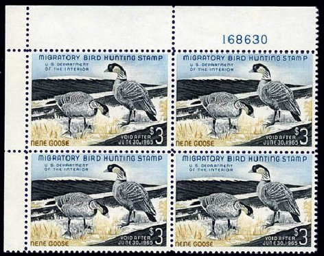 Values of US Stamps Scott Catalogue RW31: US$3.00 1964 Federal Duck Hunting. Harmer-Schau Auction Galleries, Aug 2011, Sale 90, Lot 2068