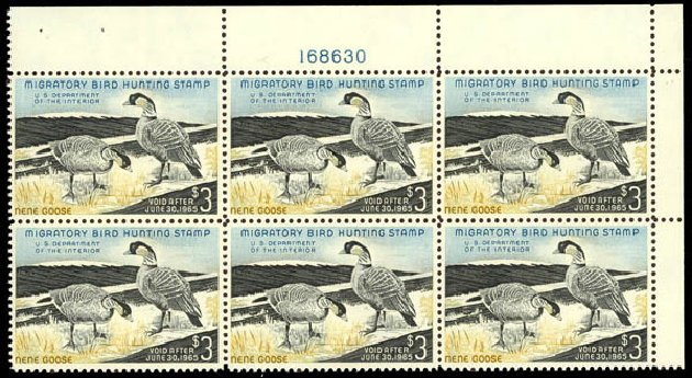 Cost of US Stamps Scott Catalog RW31: US$3.00 1964 Federal Duck Hunting. Daniel Kelleher Auctions, May 2014, Sale 653, Lot 2519