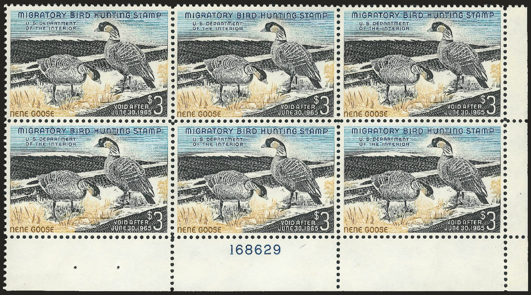 US Stamps Values Scott Cat. #RW31 - US$3.00 1964 Federal Duck Hunting. Robert Siegel Auction Galleries, Apr 2010, Sale 984, Lot 1239