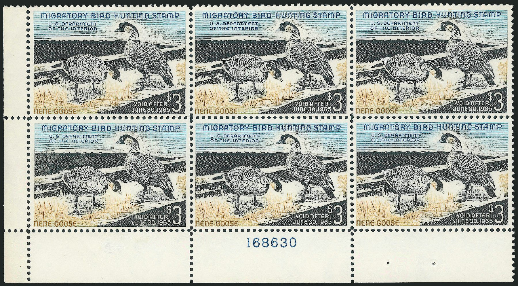 Costs of US Stamps Scott # RW31: 1964 US$3.00 Federal Duck Hunting. Robert Siegel Auction Galleries, Mar 2011, Sale 1007, Lot 3190