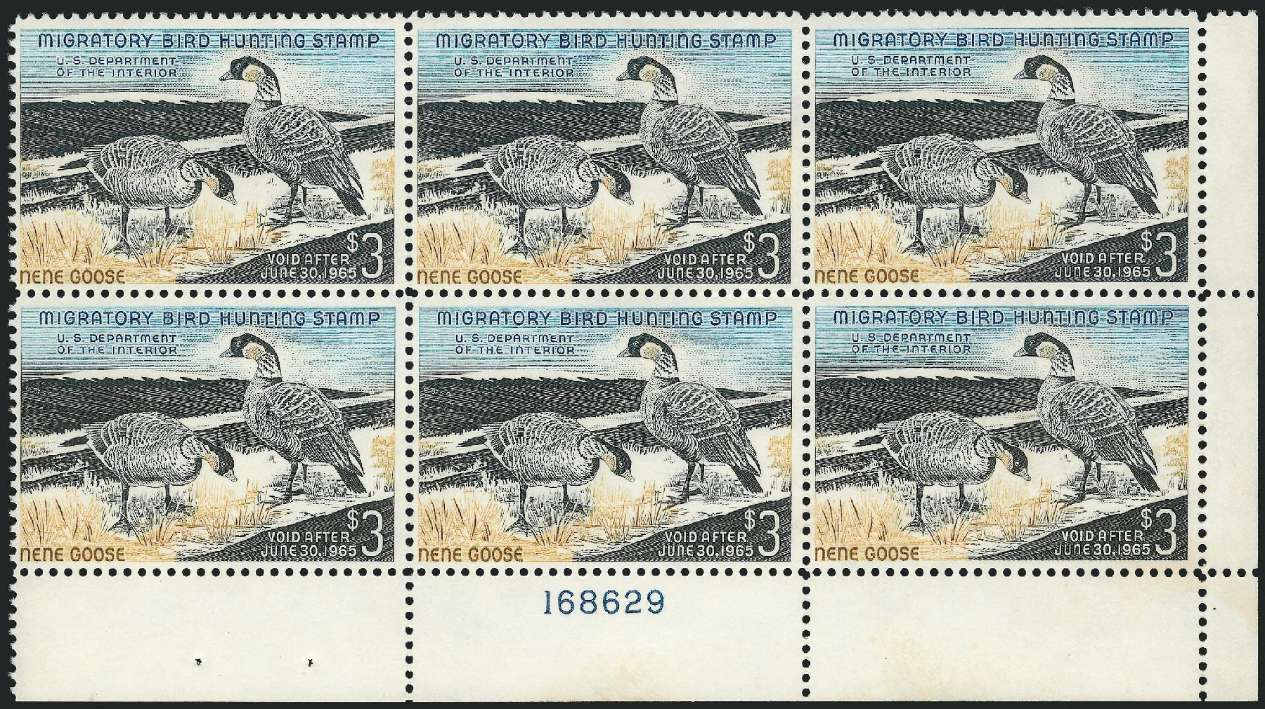 Costs of US Stamp Scott # RW31 - 1964 US$3.00 Federal Duck Hunting. Robert Siegel Auction Galleries, Apr 2015, Sale 1096, Lot 1041