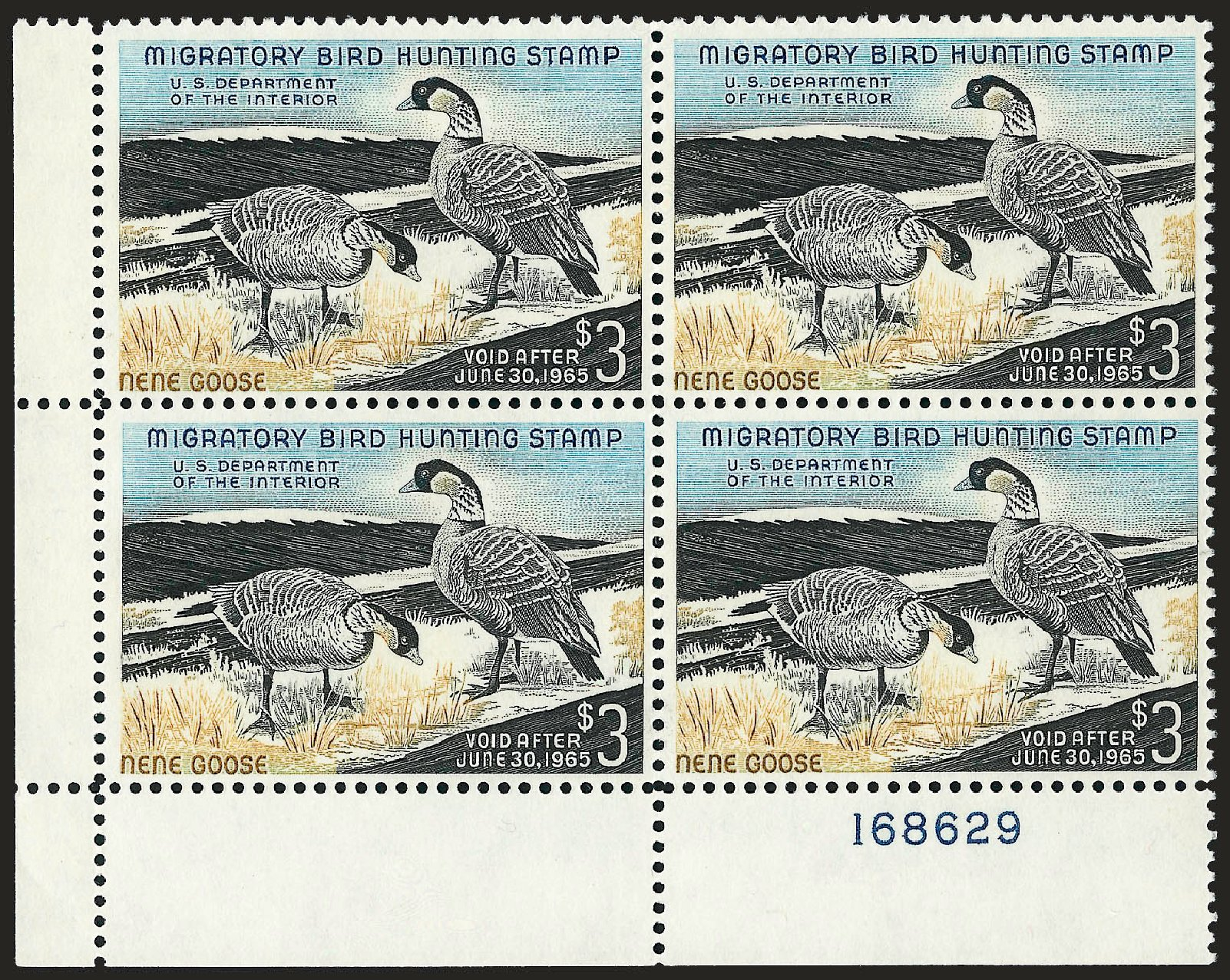 US Stamp Prices Scott Catalog RW31: US$3.00 1964 Federal Duck Hunting. Robert Siegel Auction Galleries, Sep 2008, Sale 962, Lot 3093