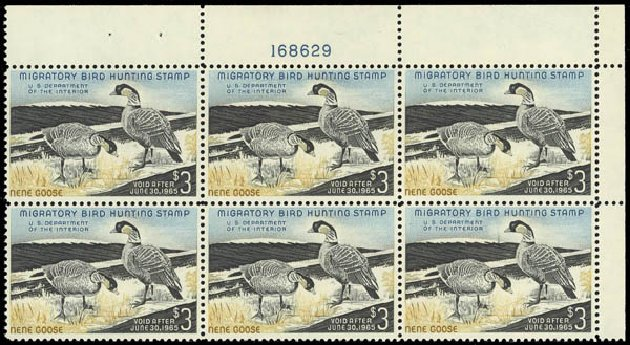 Costs of US Stamp Scott # RW31 - US$3.00 1964 Federal Duck Hunting. Daniel Kelleher Auctions, Jul 2011, Sale 625, Lot 1326