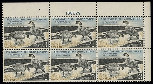 US Stamp Values Scott Catalog #RW31 - US$3.00 1964 Federal Duck Hunting. Spink Shreves Galleries, Aug 2013, Sale 144, Lot 446