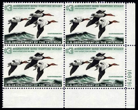 US Stamp Value Scott RW32 - 1965 US$3.00 Federal Duck Hunting. Harmer-Schau Auction Galleries, Aug 2011, Sale 90, Lot 2069