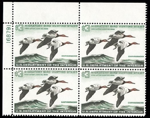 US Stamp Prices Scott Catalogue RW32: US$3.00 1965 Federal Duck Hunting. Spink Shreves Galleries, May 2014, Sale 148, Lot 412