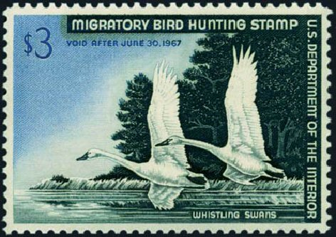 Prices of US Stamps Scott #RW33 - 1966 US$3.00 Federal Duck Hunting. Harmer-Schau Auction Galleries, Aug 2012, Sale 94, Lot 2015