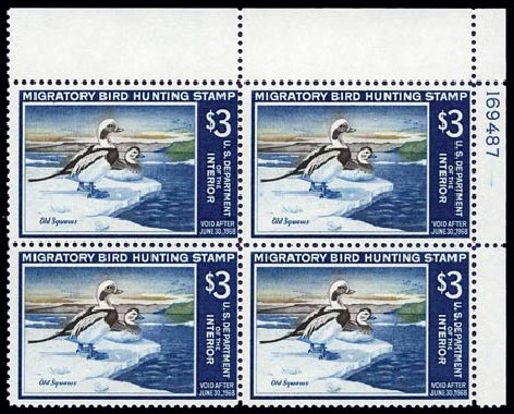 US Stamp Price Scott Catalogue #RW34: 1967 US$3.00 Federal Duck Hunting. Harmer-Schau Auction Galleries, Aug 2011, Sale 90, Lot 2071