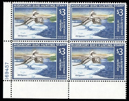 US Stamps Values Scott Cat. RW34 - 1967 US$3.00 Federal Duck Hunting. Spink Shreves Galleries, May 2014, Sale 148, Lot 414