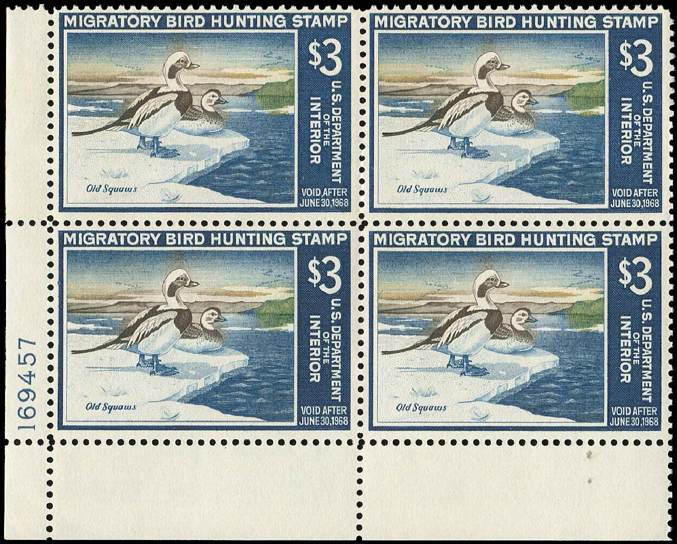 Value of US Stamps Scott Catalog RW34 - US$3.00 1967 Federal Duck Hunting. Regency-Superior, Aug 2015, Sale 112, Lot 1473