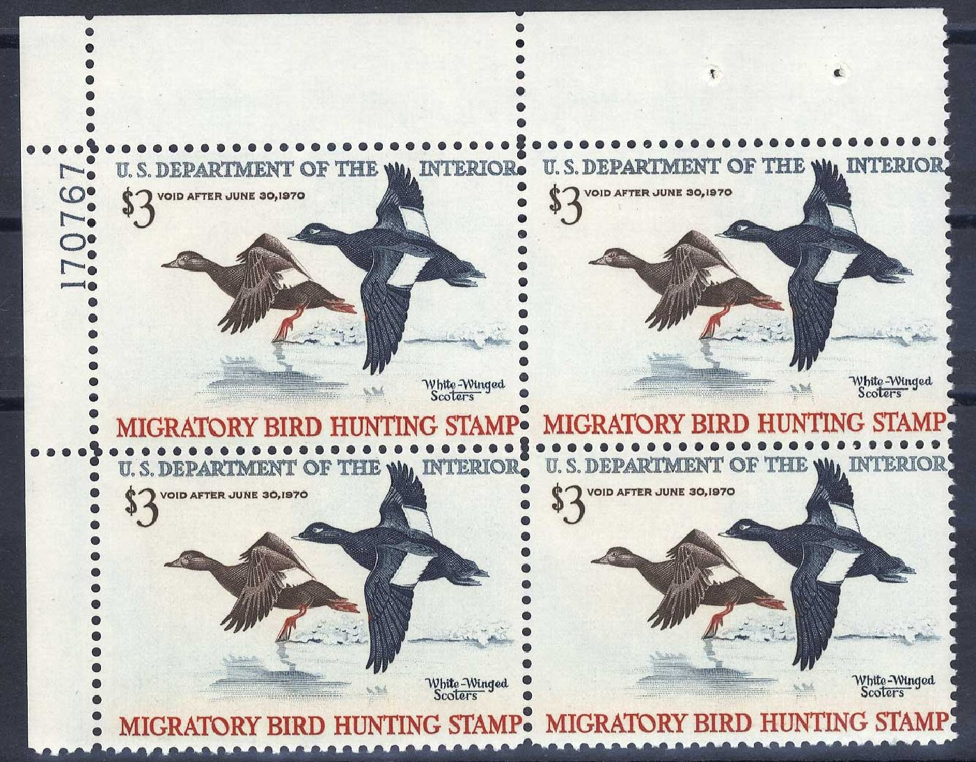 US Stamp Prices Scott Catalog RW36: US$3.00 1969 Federal Duck Hunting. Cherrystone Auctions, Jul 2008, Sale 200807, Lot 105
