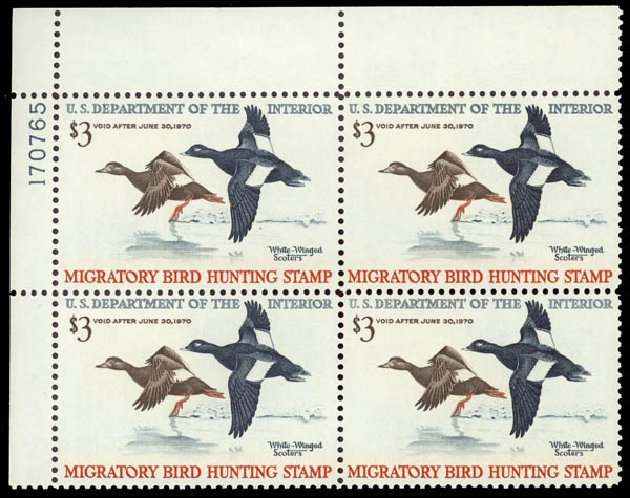Prices of US Stamps Scott Catalog #RW36: US$3.00 1969 Federal Duck Hunting. Daniel Kelleher Auctions, May 2015, Sale 669, Lot 3606